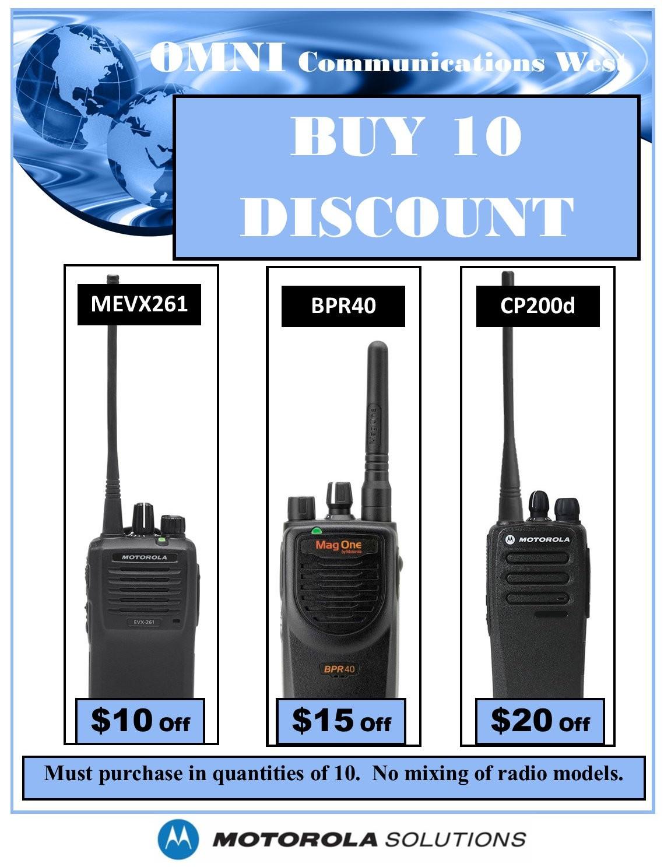 Motorola Buy 10 Discount