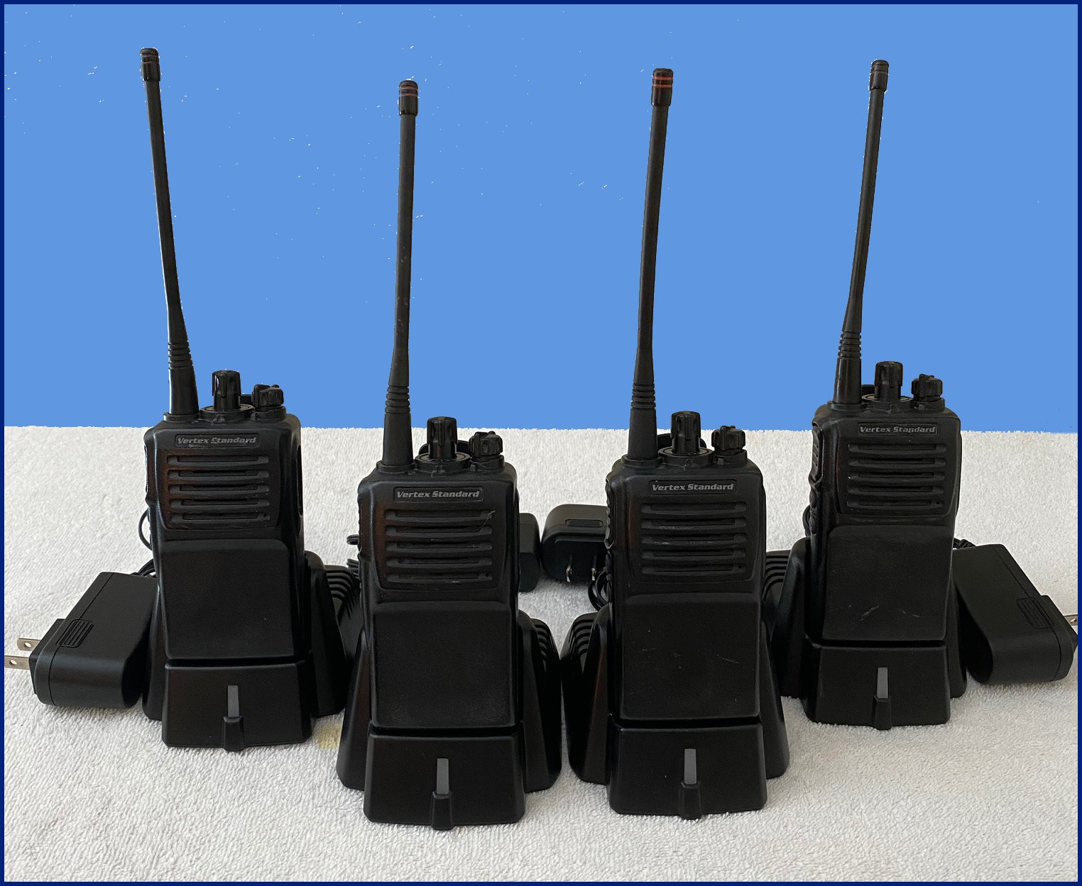 Used Radios 4 Pack with Desk Top Chargers