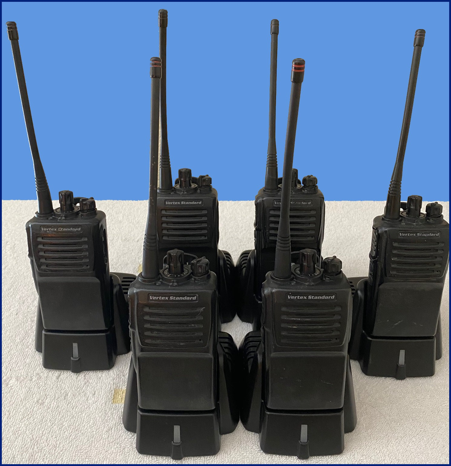 Used Radios 6 Pack with Desk Top Chargers